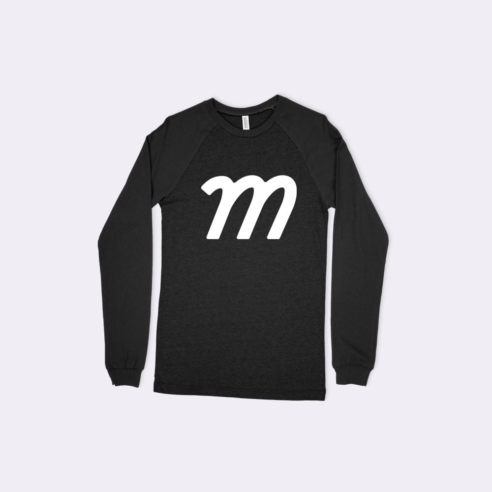 Bella + Canvas 3000 Men's Long Sleeve Baseball T-Shirt