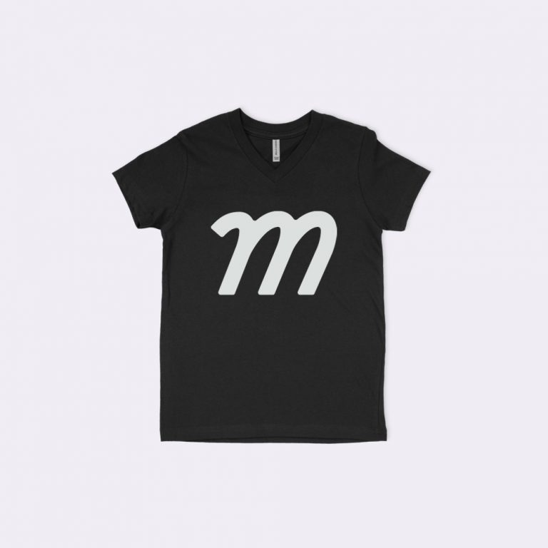 youth v-neck t-shirt mockup generator