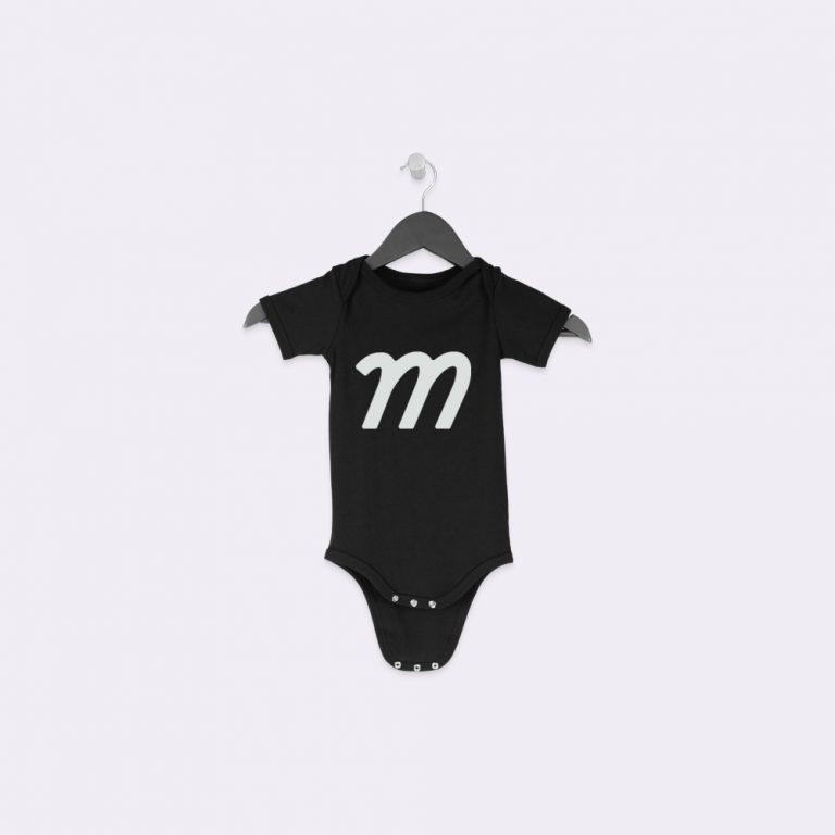 hanging baby onesie mockup generator