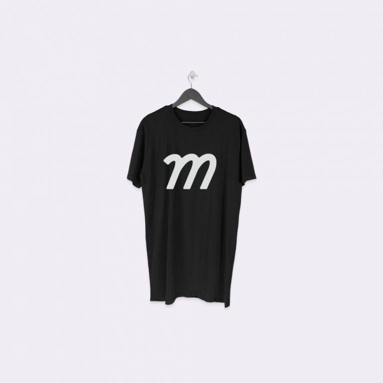 hanging longline tall t-shirt mockup generator