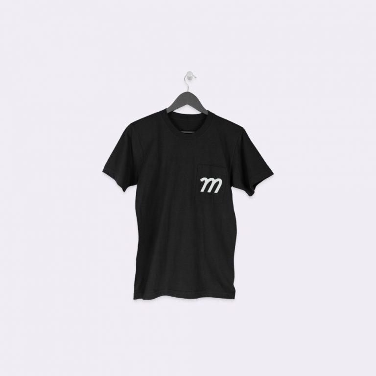 hanging pocket t-shirt mockup generator